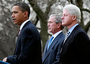 Obama, With Former Presidents Bush And Clinton, Speaks On Haiti