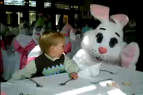 Cute Kids Getting Scared of the Easter Bunny