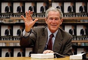 "George W. Bush Signs Copies Of His New Memoir ""Decision Points"""