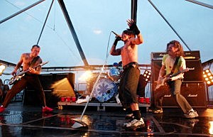 Red Hot Chili Peppers Perform On Ellis Island