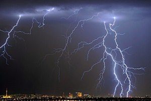 Thunderstorm Rolls Through Las Vegas