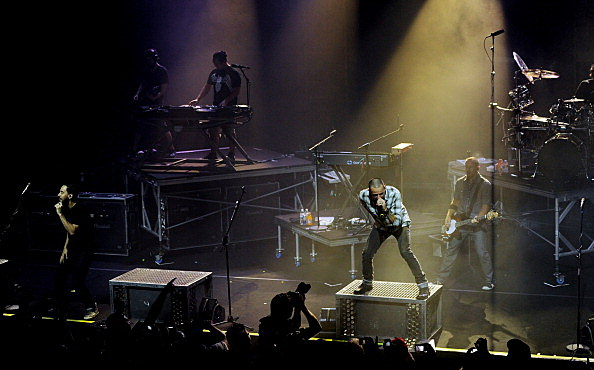 Linkin Park And B'z Perform For Fundraising Fans At The Mayan Theatre