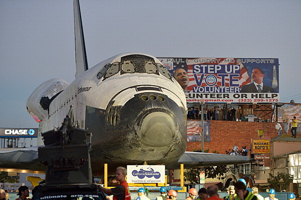 Space Shuttle Endeavour Makes 2-Day Trip Through LA Streets To Its Final Destination
