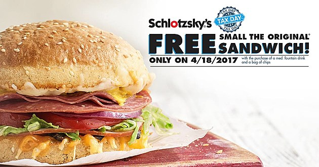 Schlotzky's Taz Day Coupon